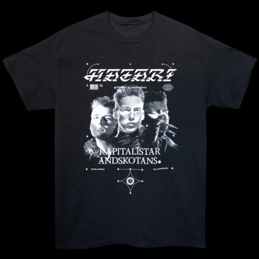 Hatari Merchandise Kapitalistar andskotans Black Tshirt